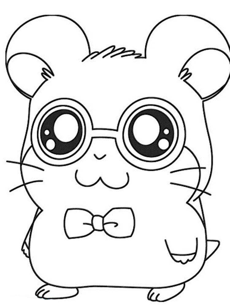 Printable image Hamster Coloring Pages