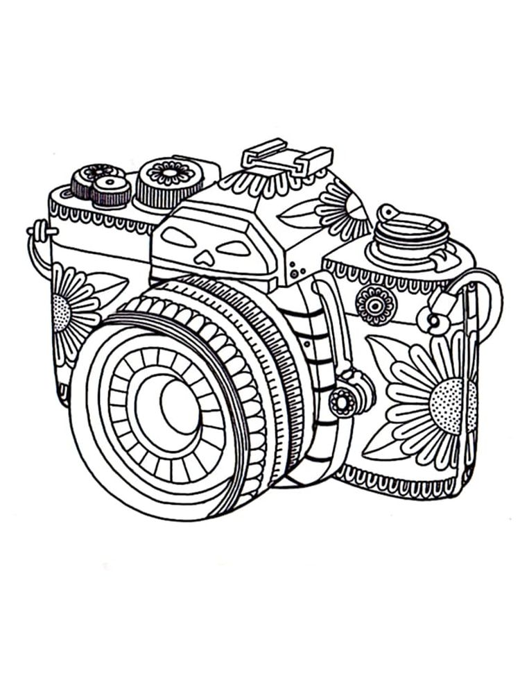 Security Camera Coloring Page Printable