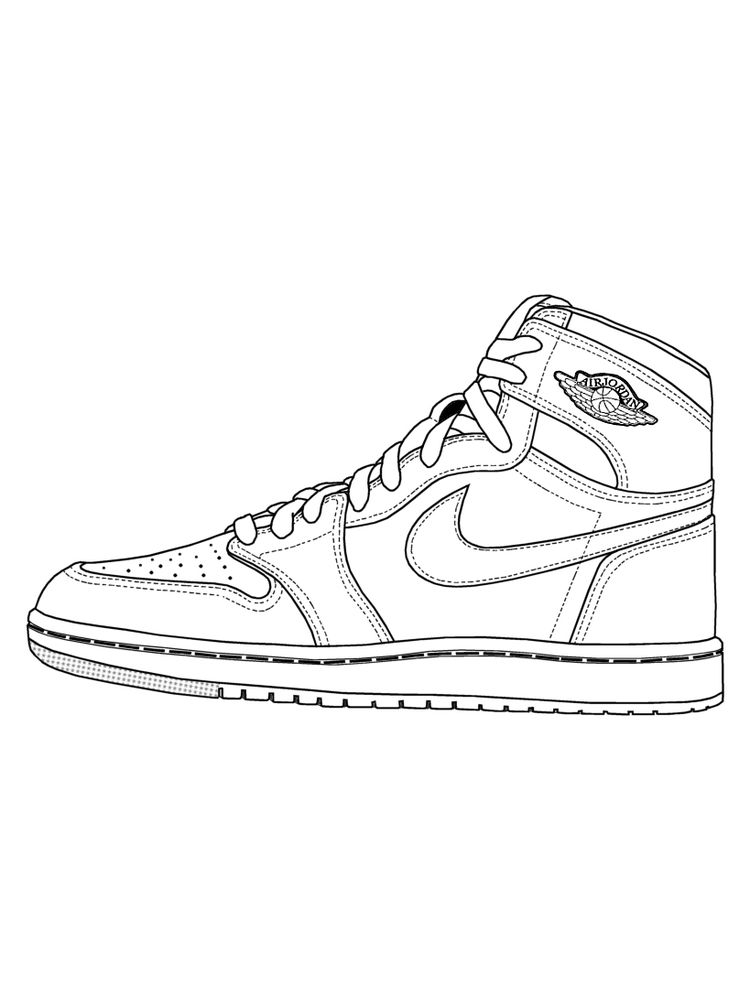 Shoes Coloring Page Printable