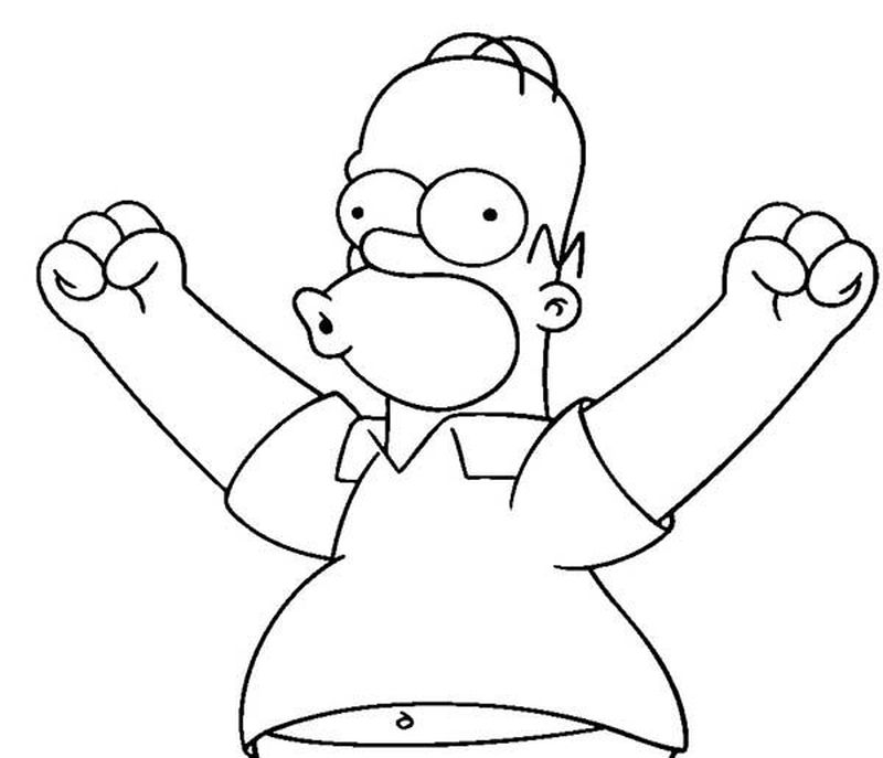 Simpsons Coloring Pages To Print Out Printable