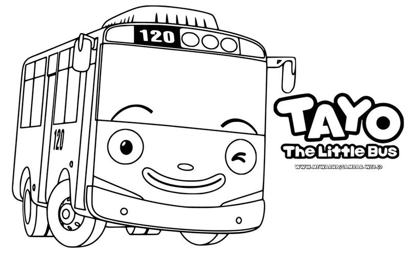Tayo Colouring Pages Free