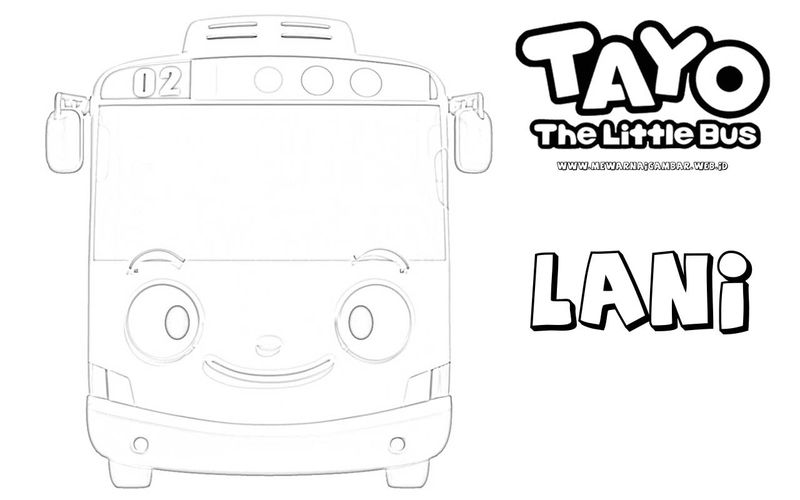 Tayo Little Bus Coloring Pages