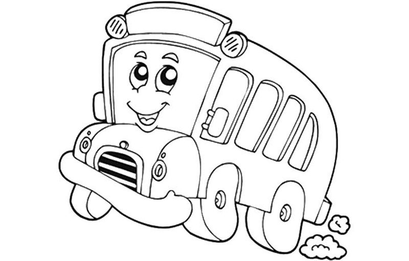 Tayo The Little Bus Coloring Pages