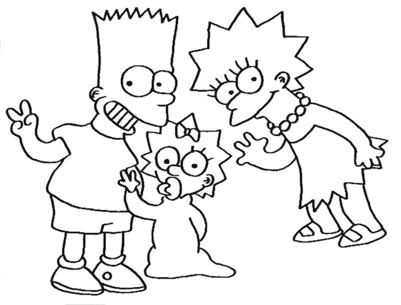 The Simpson coloring pages Pdf freePrintable