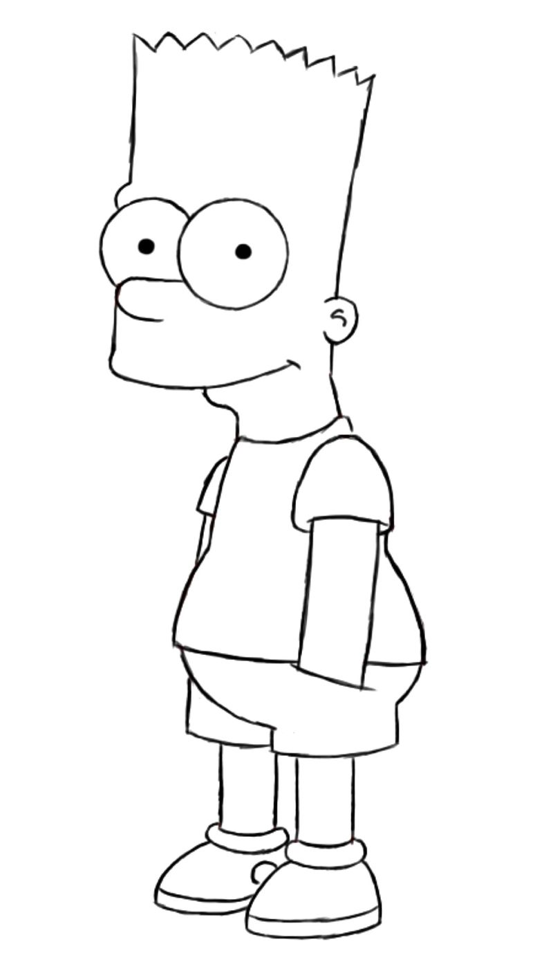 The Simpson coloring pages cool Printable