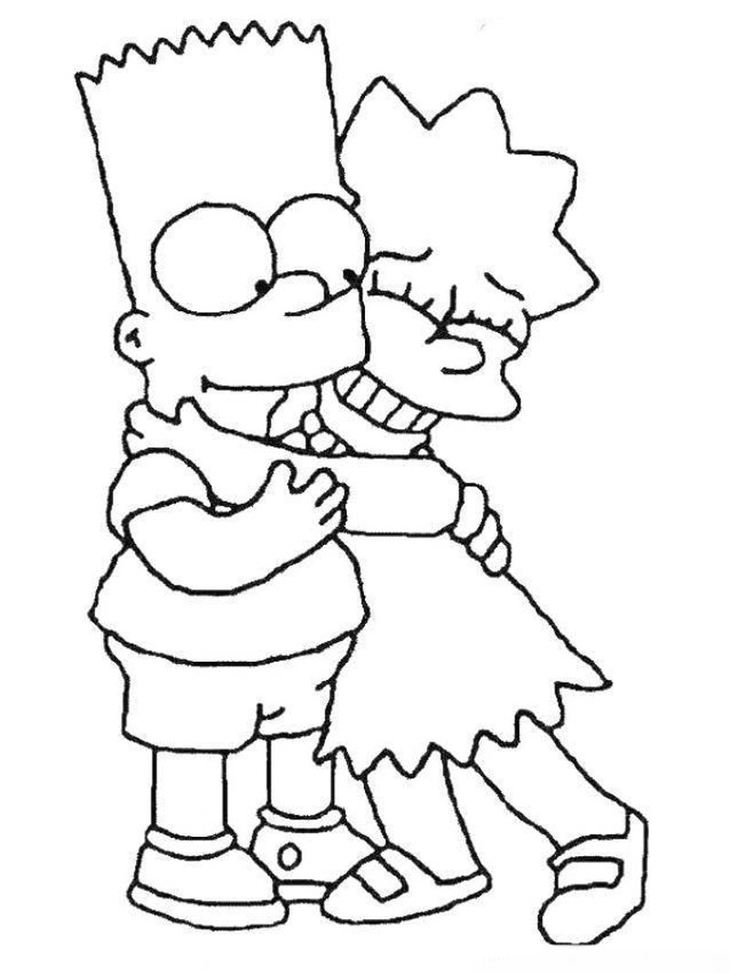 The Simpson coloring pages cute Printable