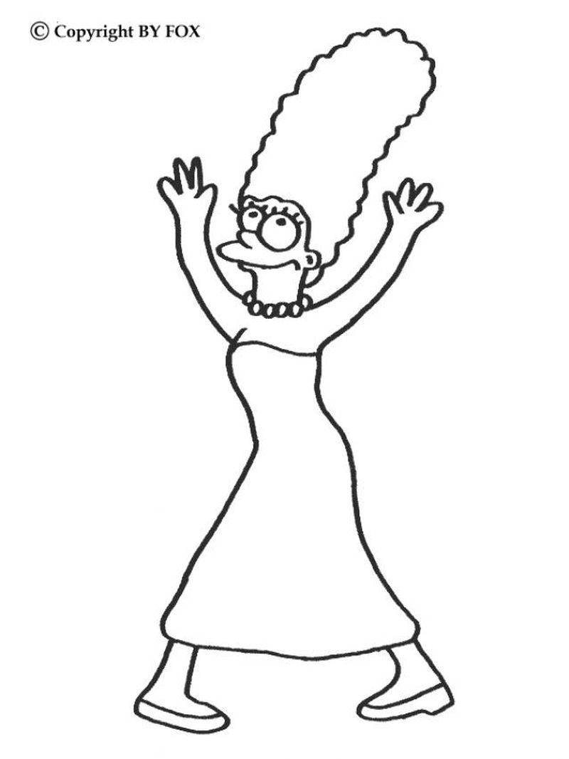 The Simpson coloring pages to free print