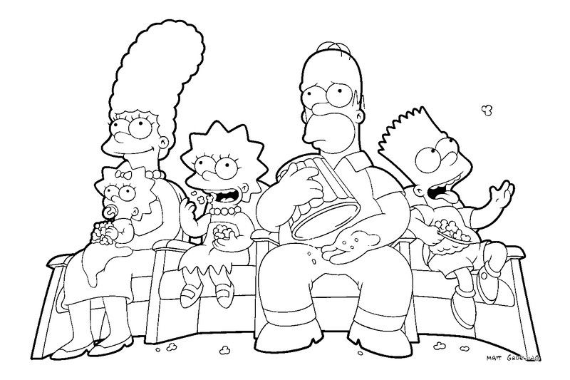 The Simpson coloring pages to page printable