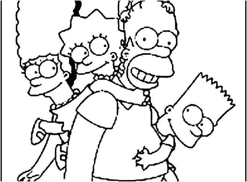 The Simpson coloring pages to print download