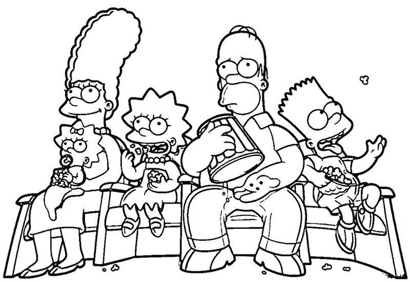 The Simpsons Colouring In Pages Free