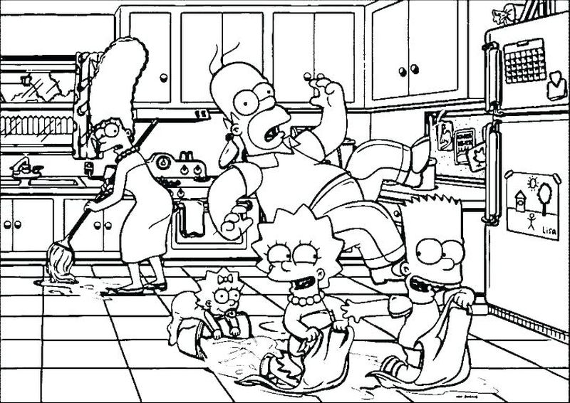 The Simpsons Colouring Pages To Print