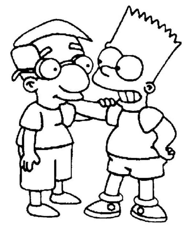 The Simpsons Family Coloring Pages Printable
