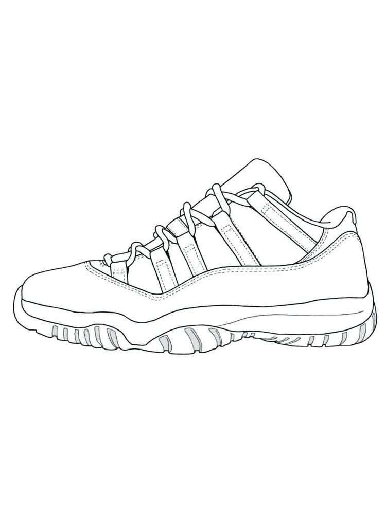 To Print Shoes Coloring Pages Pdf