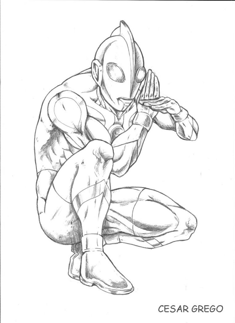 Ultraman Zero Colouring Pages