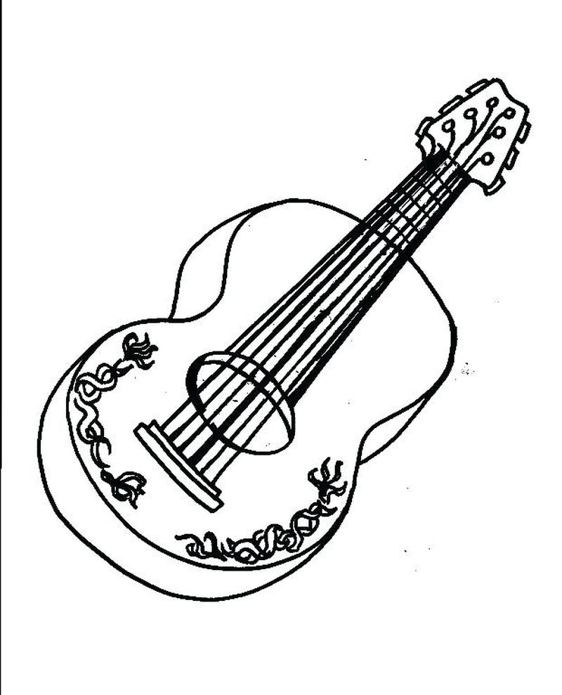 acoustic guitar coloring pages