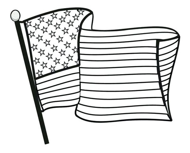 american flag coloring page for first grade