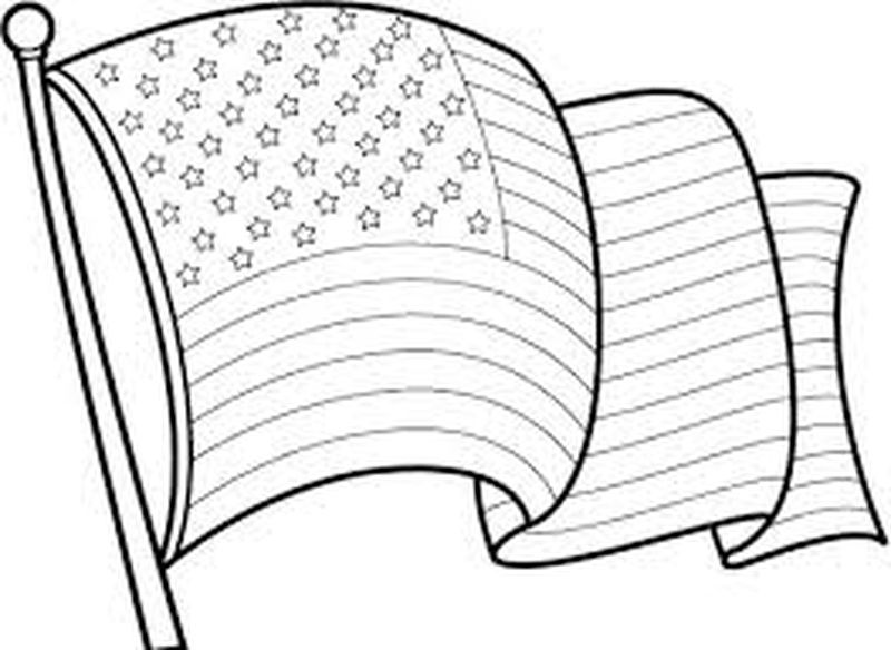 american flag coloring page for preschool