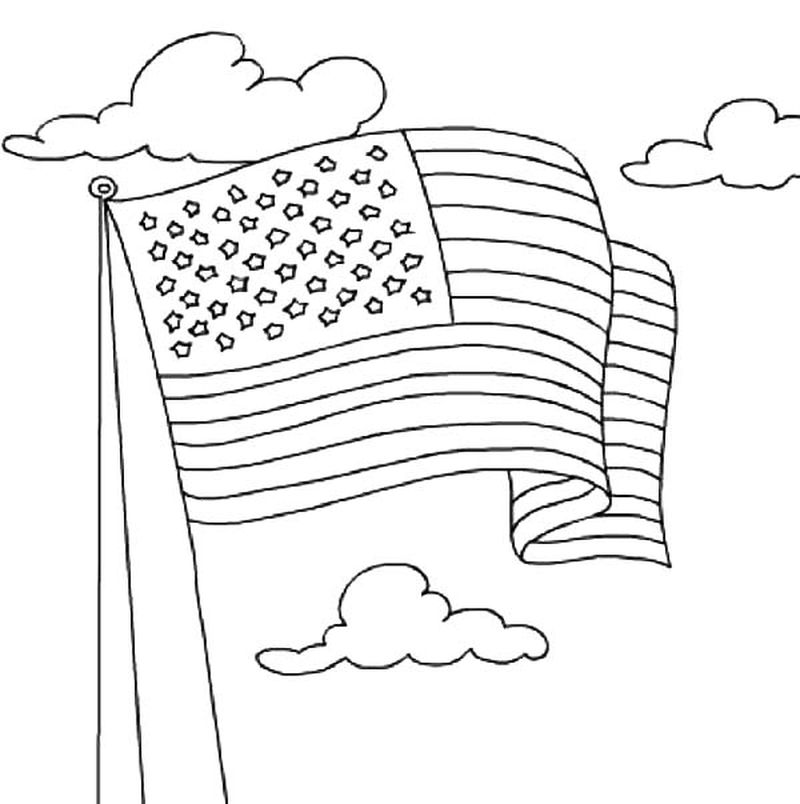 an american flag coloring page