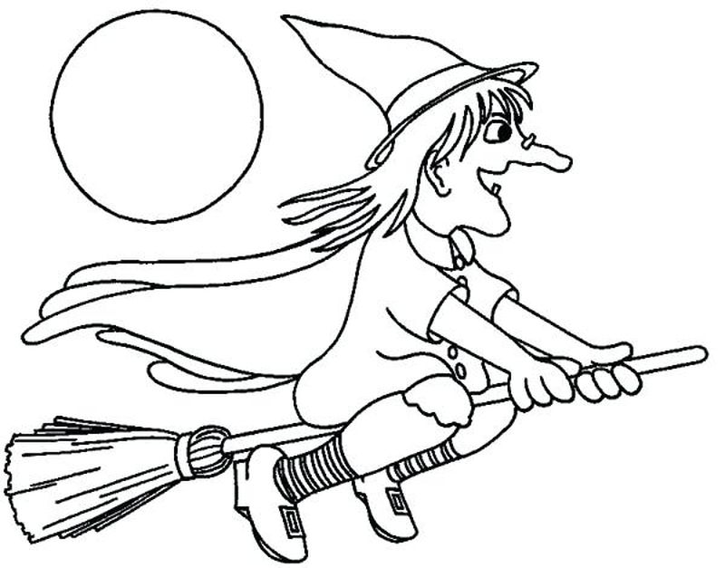 anime witch coloring pages