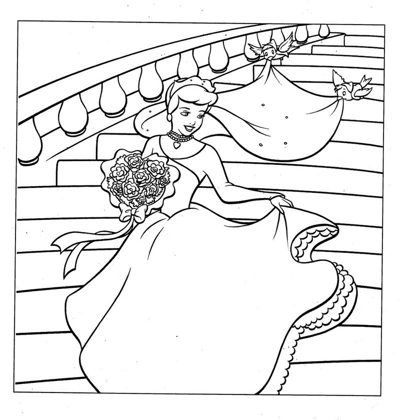 barbie wedding dress coloring pages