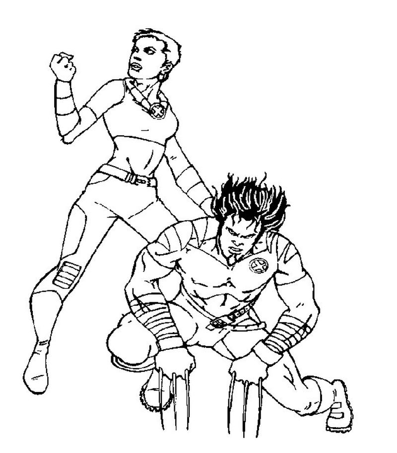 best x men coloring pages printable