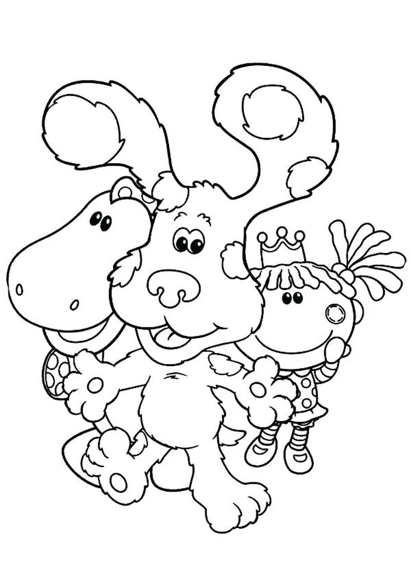 blues clues christmas coloring pages