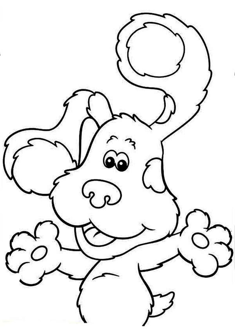 blues clues coloring pages free print