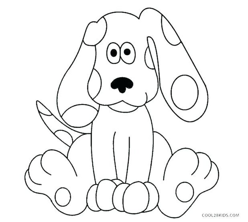 blues clues colouring pages print