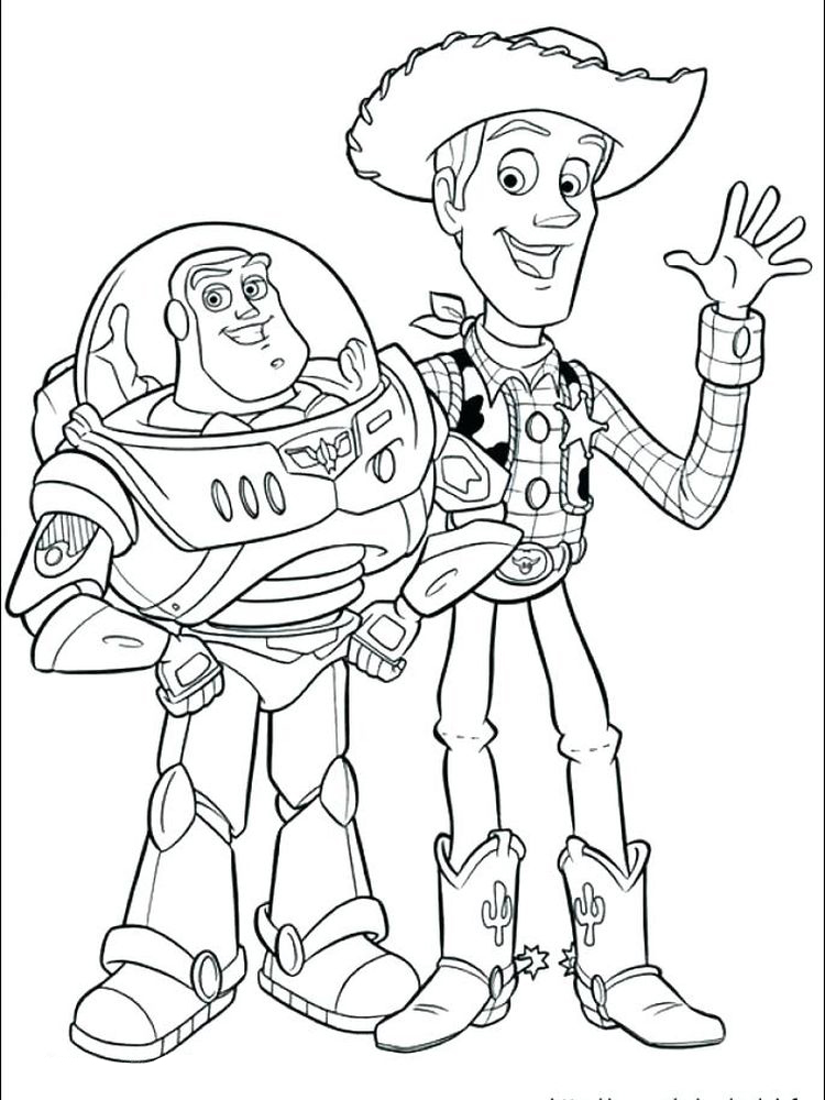 buzz lightyear color pages