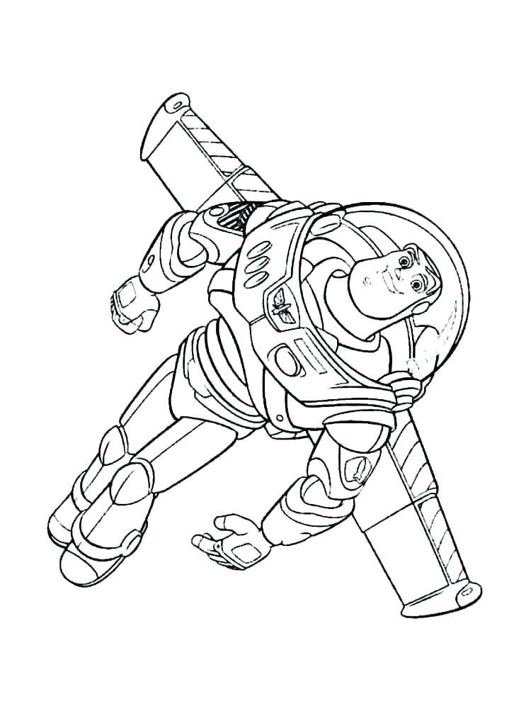 buzz lightyear coloring page free