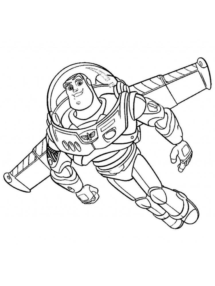 buzz lightyear coloring pages printable