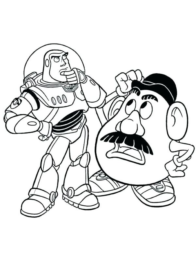 buzz lightyear colouring pages print
