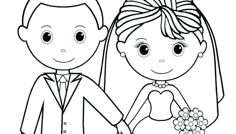 church wedding coloring pages
