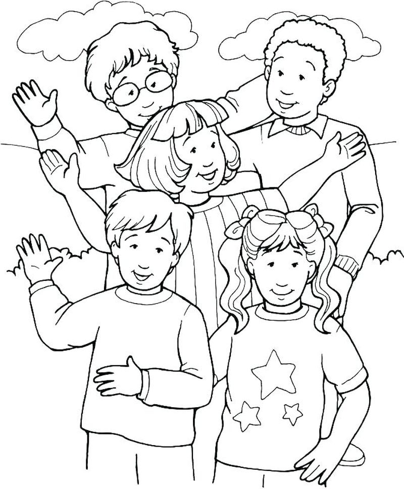 coloring book pages people