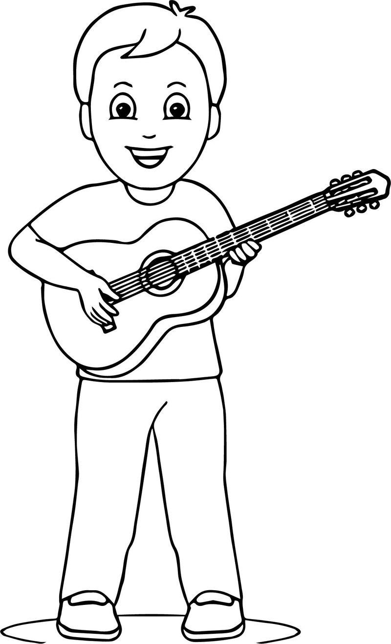 coloring page for guitar