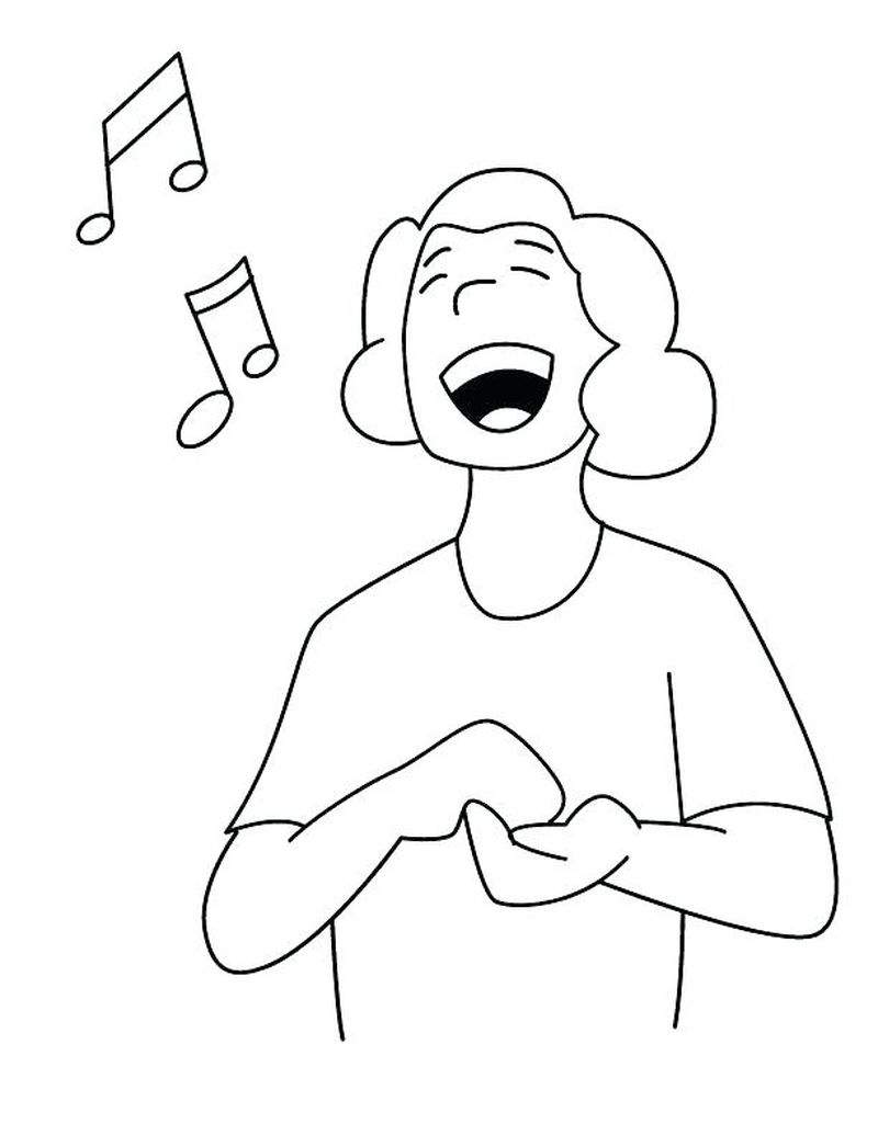 coloring pages christian free adult sing