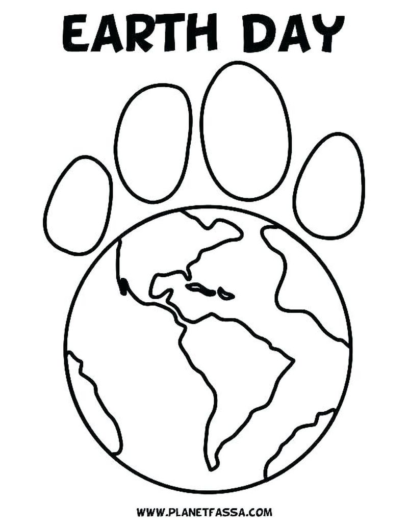 coloring pages earth day themed Printable