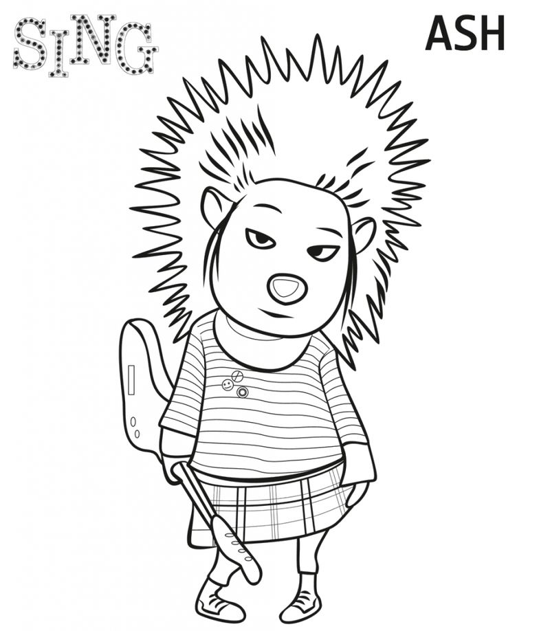 coloring pages fir kids sing