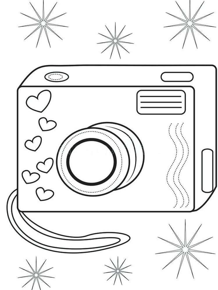 coloring pages for adults camera Printable