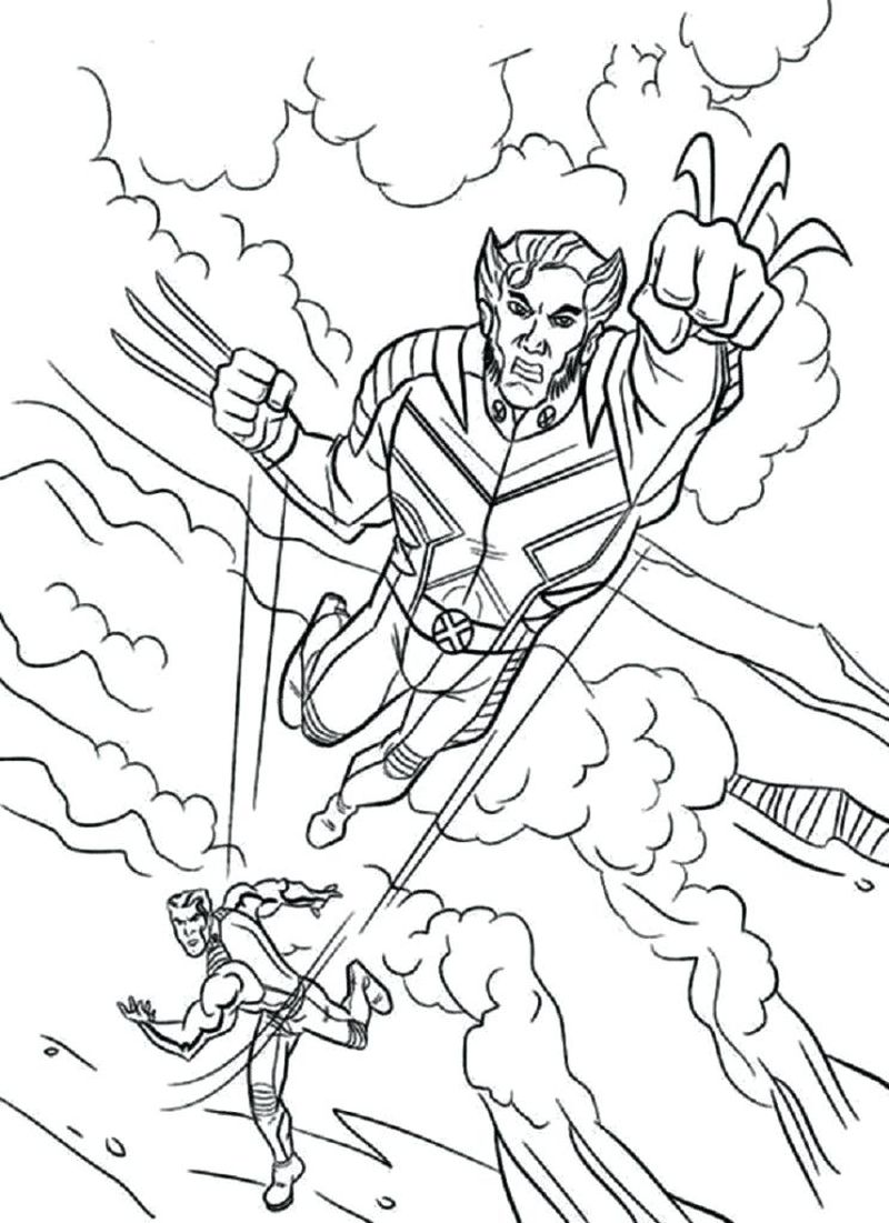 coloring pages for print best x men