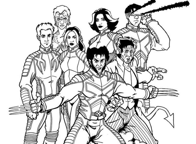coloring pages for x men