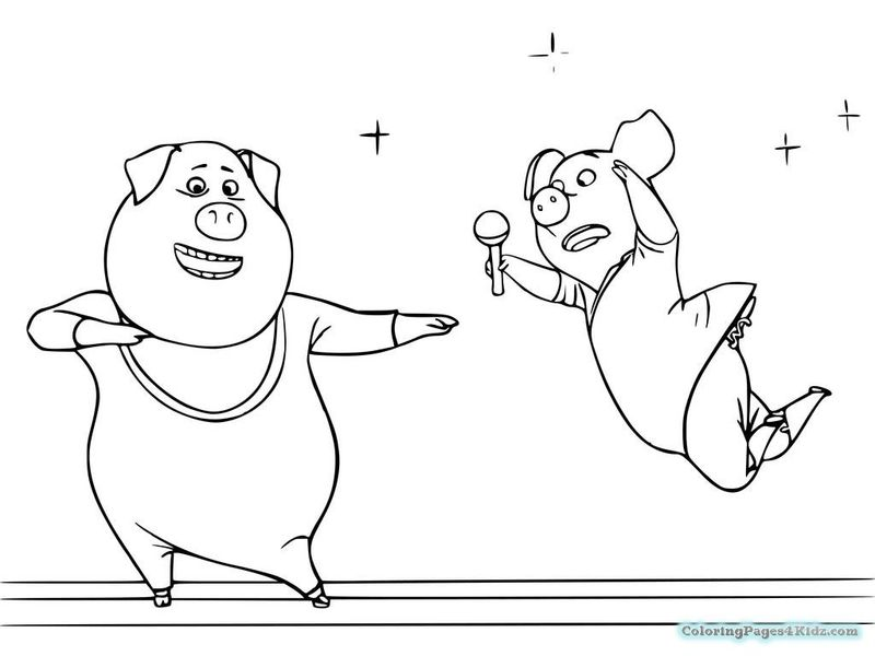 coloring pages from sing