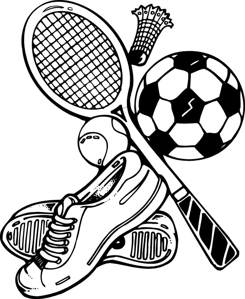 coloring pages of kids playing sports