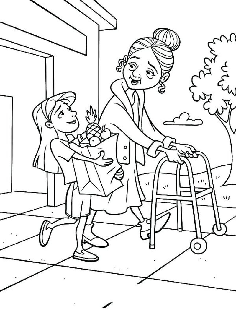 coloring pages of people fishing