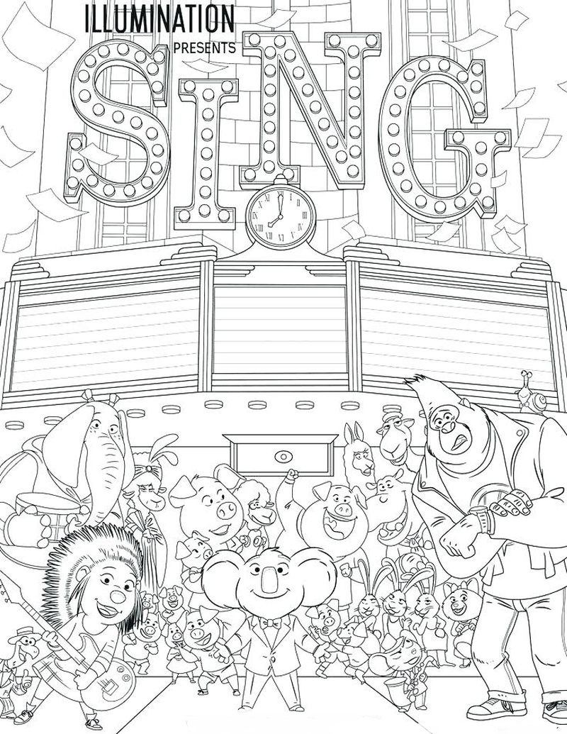 coloring pages of rosita the pig off sing