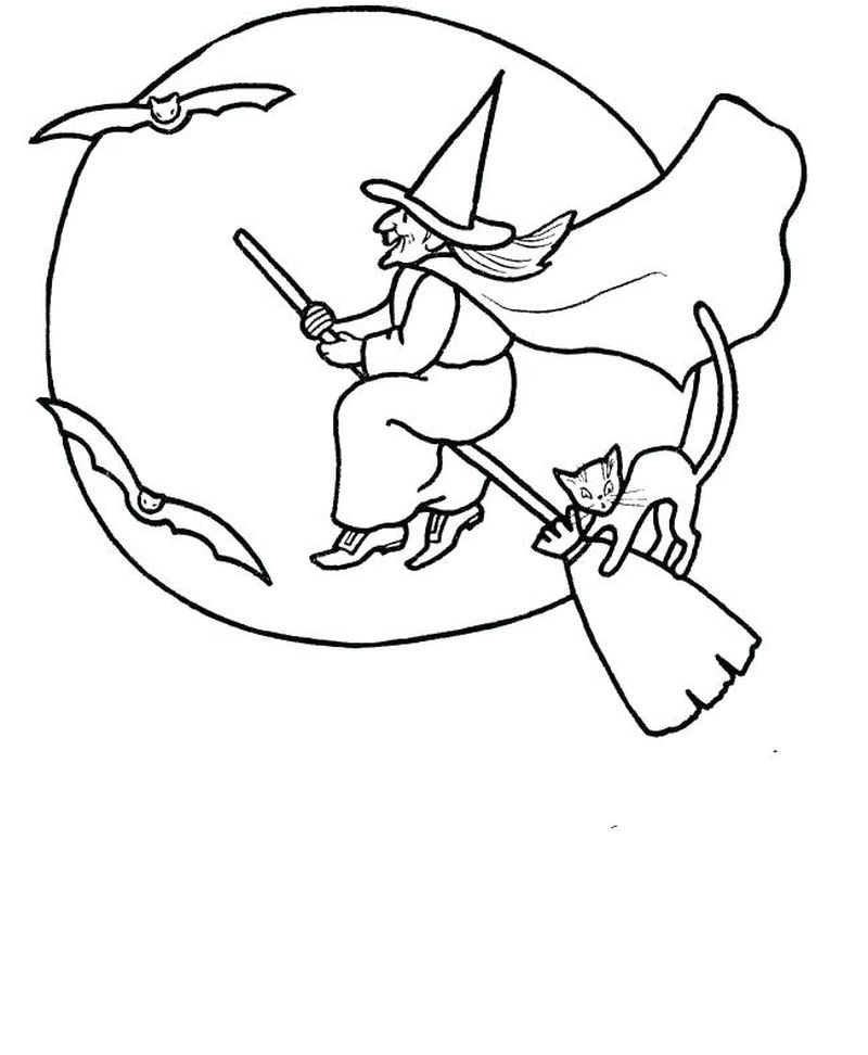 coloring pages of witch