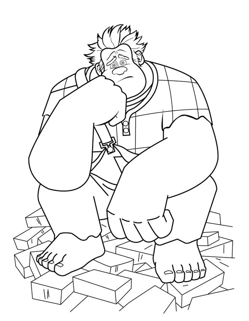 coloring pages of wreck it ralph