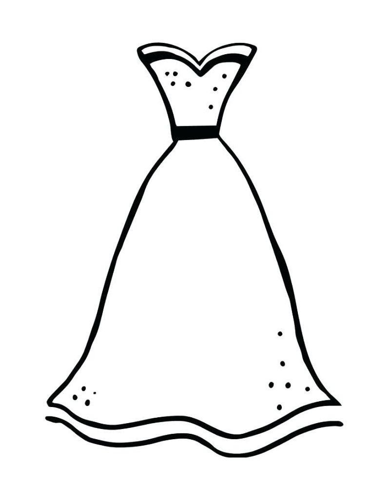 coloring pages wedding dresses