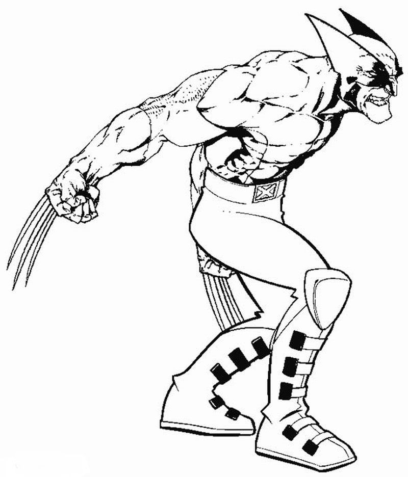 coloring pages x men to print