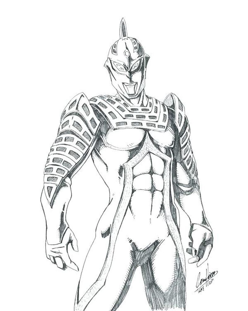 colouring page ultraman
